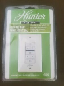 HUNTER Ceiling Fan & Light Wall Control with Wireless Recceiver 2-Wire 99373