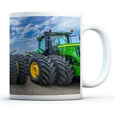 Green Tractors - Drinks Mug Cup Kitchen Birthday Office Fun Gift #15545