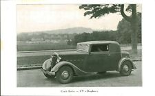 Publicité Ancienne  Voiture Coach Berliet 11 CV Dauphine   1934   P 34