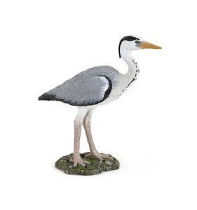 Papo Grey Heron Bird Wildlife Toy figure Replica 50274 NEW