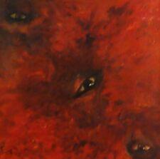 SIRI signiert - modernes, abstraktes Gemälde: AUGEN IN ROT-BRAUNEN WOLKEN