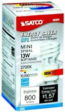 $1.87 each.12 Pack Satco S8203 13 Watt T2 Ultra Mini Spiral 2700K Soft White