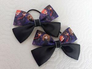 Hand made Pair of Harry potter ribbon hair bows/bobbles