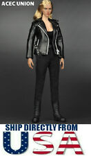 """T800 1/6 Leather Jacket Set For 12"""" Hot Toys Phicen Female Figure - USA SELLER"""