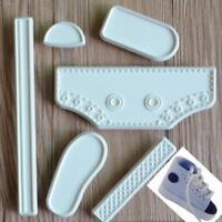 6Pcs Cake Molds,Baby High Cut Sneaker Shoe Fondant Cake Mold Tools SM