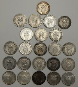 1907-1910 - Philippines - One Peso - Silver Peso - Silver Coins - Lot of 23