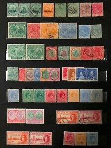 Lot of St.Kitts & Nevis Old Stamps MH/Used