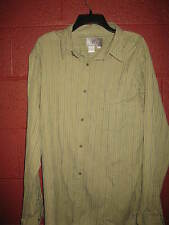 Mens Large Territory Ahead Extra Large Long Sleeve  Shirt Green Striped