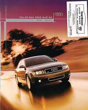 2002 AUDI A4 Brochure / Catalog with Color Chart: A-4,1.8T,3.0