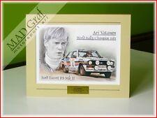 Ford Escort RS Mk 2 Rothmans Rally Team Ari Vatanen 1981 art print MAD Graf art