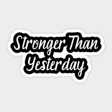 Stronger Motivation Vinyl Decal Macbook Laptop Window Glass Quote Sticker