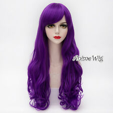 Lolita Purple Long 65CM Curly Fashion Party Women Cosplay Heat Resistant Wig