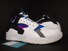 new arrival 8e9ba 22731 Nike Air FLIGHT HUARACHE PREMIUM QS WHITE BLACK BLUE BERRY PURPLE 686203-100  8