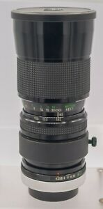 Vivitar Series 1 90-180mm F4.5 VMC Flat Field Canon FD Mount Pro Macro Zoom Lens