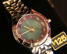 NIB men's Marco Max quartz dress teal & blue lighted dial bracelet wristwatch