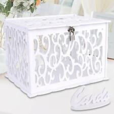 Wedding Card Box with Lock PVC Card Post Box DIY Gift Wedding Birthday Favors
