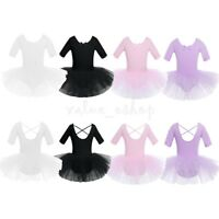Kids Girls Ballet Leotard Tutu Dress Ballerina Dancewear Gymnastic Skirt Costume