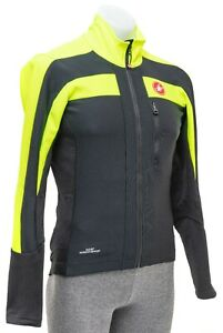 Castelli Cycling Goretex Thermal Windstopper Men MEDIUM Hi Viz Yellow Road Bike