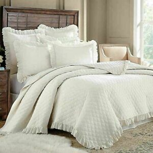 Levtex Home Sandwashed Reversible Twin Quilt in Ivory