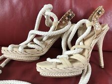 Christian Dior Tahiti Python Leather Sandals Never Worn 38