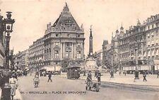 BRUXELLES BELGIUM PLACE de BROUCKERE~TRAM  #570 POSTCARD c1900s