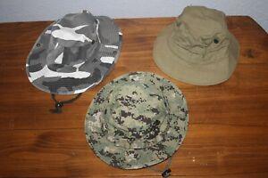 3 Bucket Hats  BDU Camo Type ll  Military  Uniform  Cap   CoverLarge Medium