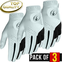 Leather Golf Glove New 3 Pack Genuine Cabretta  Special All Leather Edition