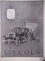 PUBLICITÉ 1925 LINCOLN LA SOUVERAINE INCONTESTÉE VOITURES MODERNES - ADVERTISING