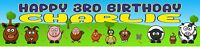 Personalised Farm Animal Banners - Buy 2 get 1 Free  - Birthday Baby Shower