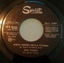 Nini Rosso 45 Mamma / Ninna Nanna Della Tromba Italy import Sprint 1974 vg+