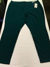 NWT 2X 2XWP 22/24 Catherines Solid Dark Green Active Leggings
