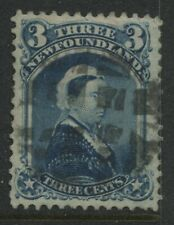 Newfoundland QV 1873 3 cents blue used