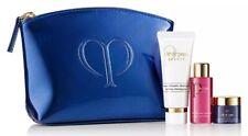Cle De Peau Beaute 4-pc set: Cleansing foam, Multi-Repair Oil,Cream, Makeup Bag