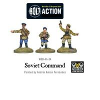 Pack Of 3 Soviet Command Miniatures - Army Bolt Action Warlord Games 28mm