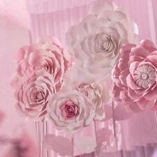 30/40cm Paper Flower Backdrop Large Rose Flowers Wedding Party Wall Garden Decor