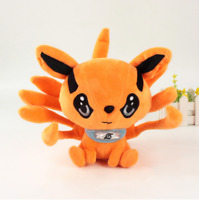 25cm Naruto Shippuden Plush Toy Kurama Kyuubi Tales Fox Soft Stuffed Doll Gift