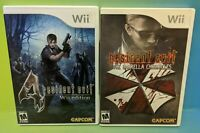 2 Game Resident Evil Lot Nintendo Wii RE 4 Chronicles Horror Rare Wii U Working
