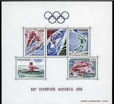 1976 MONACO BLOC N°11 DENTELE XXI OLYMPIADE MONTREAL xx