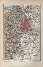 Landkarte city map 1897: UMGEBUNG VON WIEN. Maßstab: 1 : 225 000