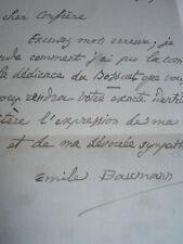 Carte Lettre autographe Emile Baumann 2 aout 1929 Écrivain Français