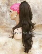 Light  Chestnut Brown Ponytail Long Wavy Extension  Claw Clip on Hair Piece #8