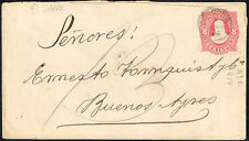 2743 Argentina Ps Stationery Cover 1886 Cordoba - Buenos Aires