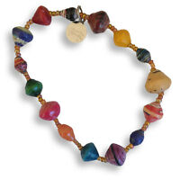 Multicolour Paper Bead Bracelet - Handmade in Uganda - Fair Trade