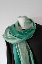 Etole soie sauvage Thaïlandaise, couleur vert dégradé