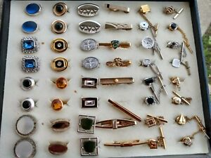 Lot of Vintage & moderns Cufflinks Tie tacks pins Arson Swank  and more