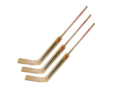 "3 New Warrior Woodrow 21"" junior Goalie Sticks left hand LH Emery wood"
