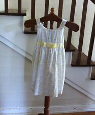 Swiss Dot Floral Daisy Garden Dress & Yellow Shrug 2 Piece Set  Size 8