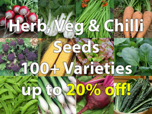Herb, Vegetable,Chilli Seeds Pack 100+ Varieties/Collection/Mix - only 79p each!