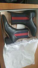 Gucci NIB $980 karen leather short slip-on bootie EU 36.5 US 6.5