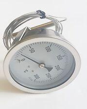 Fish & Chip Frying Range Thermometer 0 to 300 deg C - Preston & Thomas 80mm dia